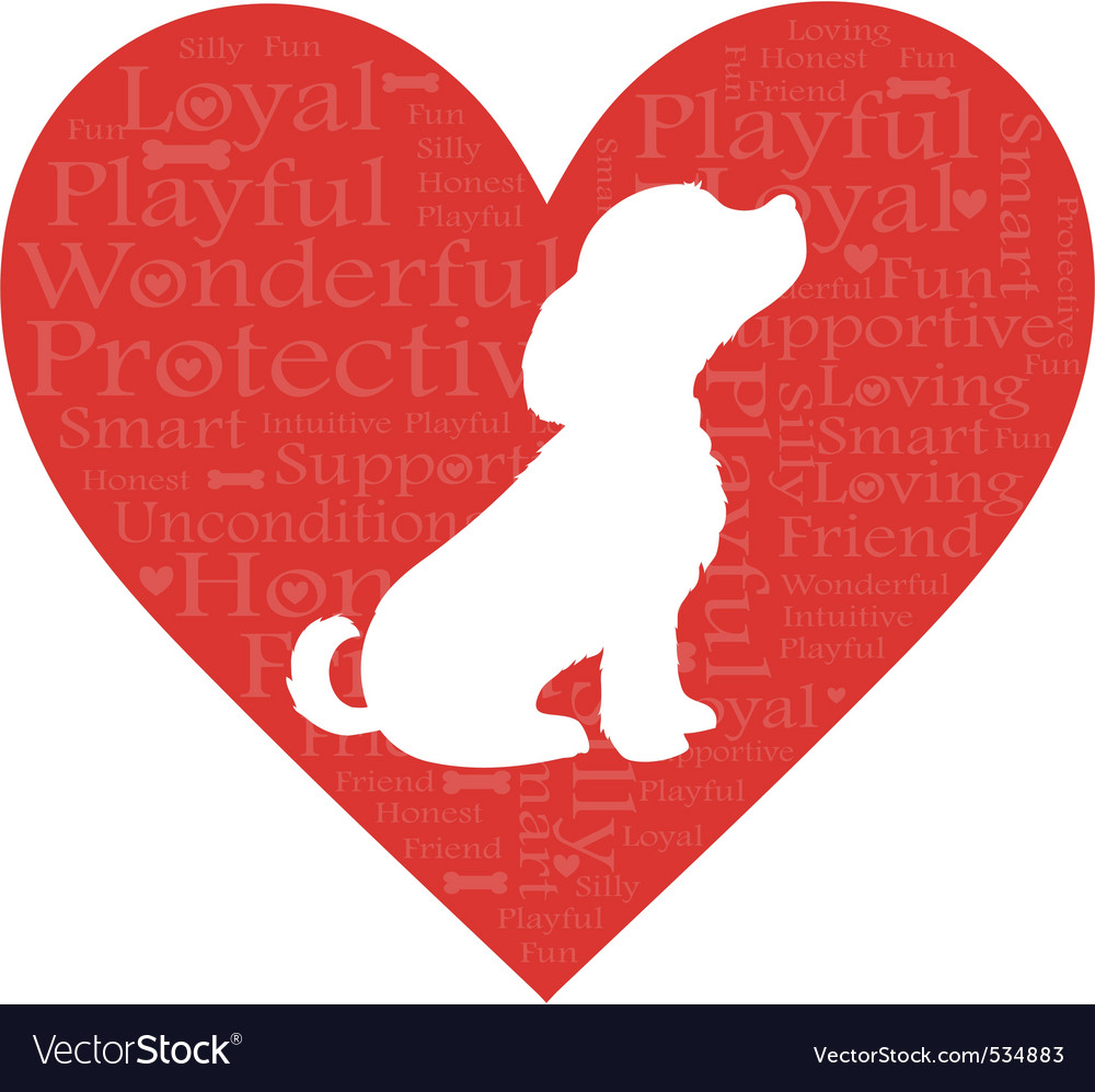 Puppy love vector | Price: 1 Credit (USD $1)