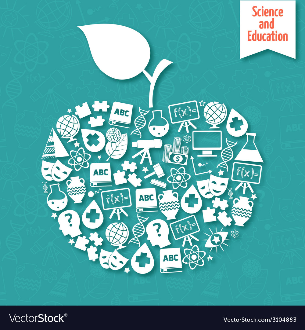 Science areas apple vector | Price: 1 Credit (USD $1)