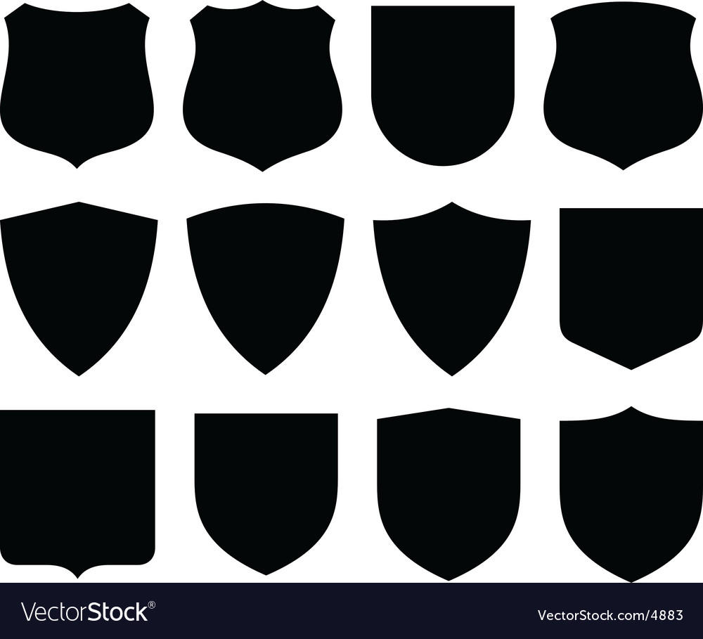 Shields labels vector | Price: 1 Credit (USD $1)