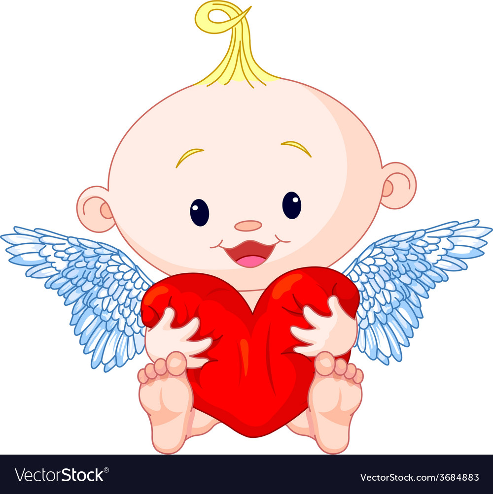Valentines day cupid vector | Price: 1 Credit (USD $1)
