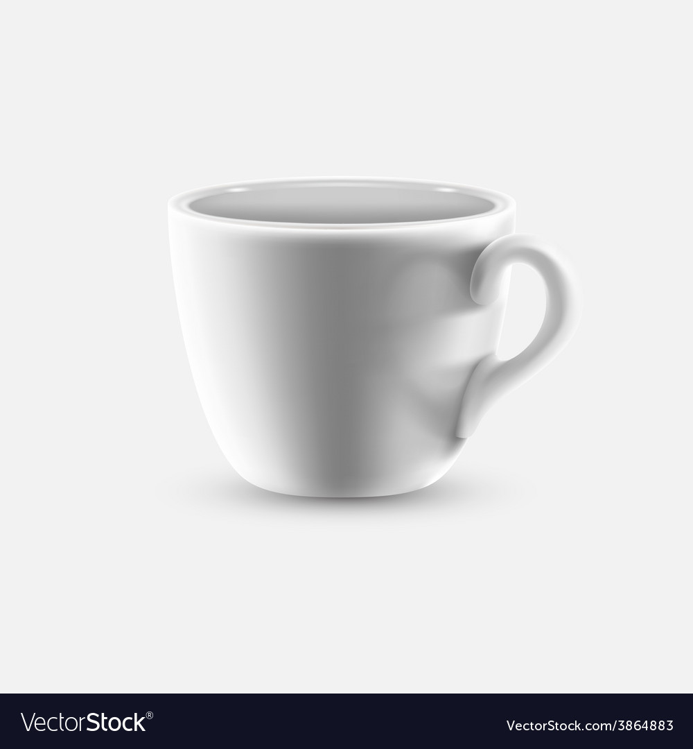 White coffee cup vector | Price: 1 Credit (USD $1)
