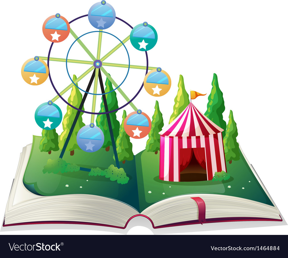 A storybook with a carnival vector | Price: 1 Credit (USD $1)