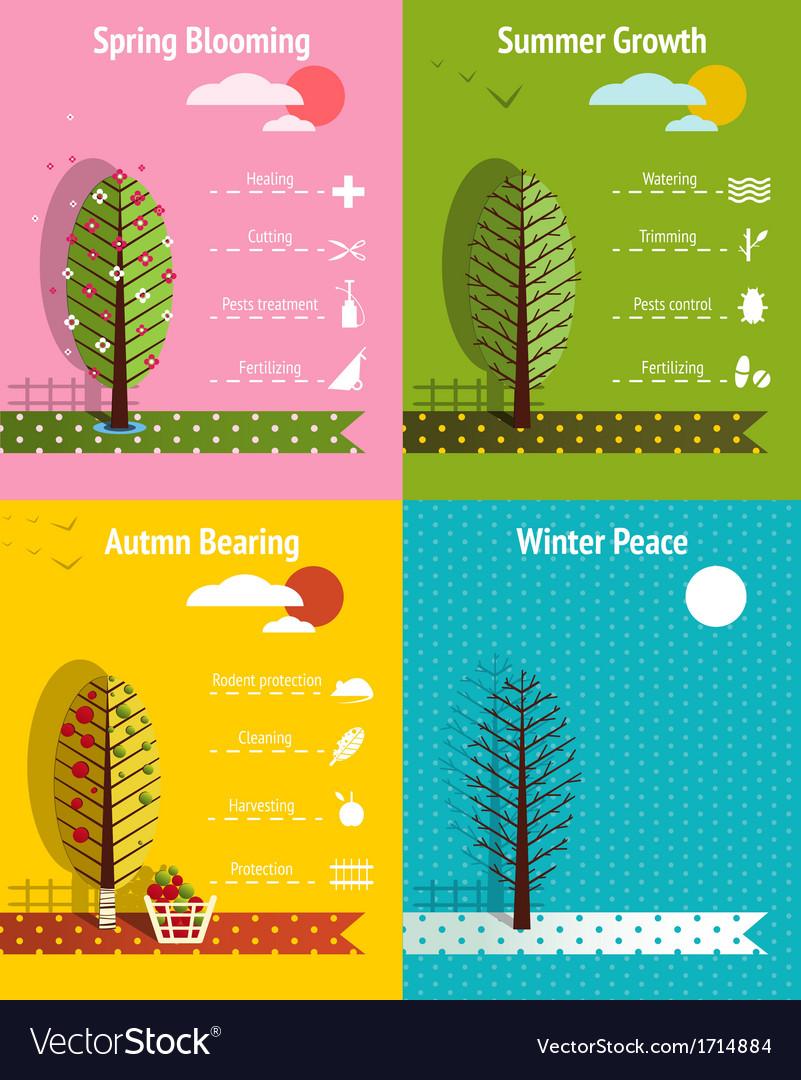 Apple garden seasons infographics elements vector   Price: 1 Credit (USD $1)