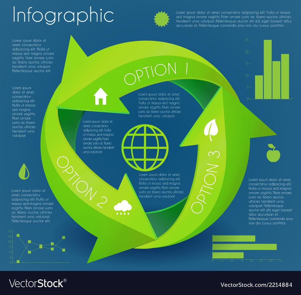 Arrow infographic eco circle vector | Price: 1 Credit (USD $1)