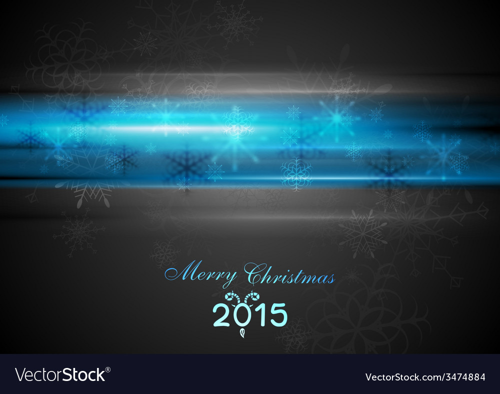 Blue glowing light christmas background vector | Price: 1 Credit (USD $1)