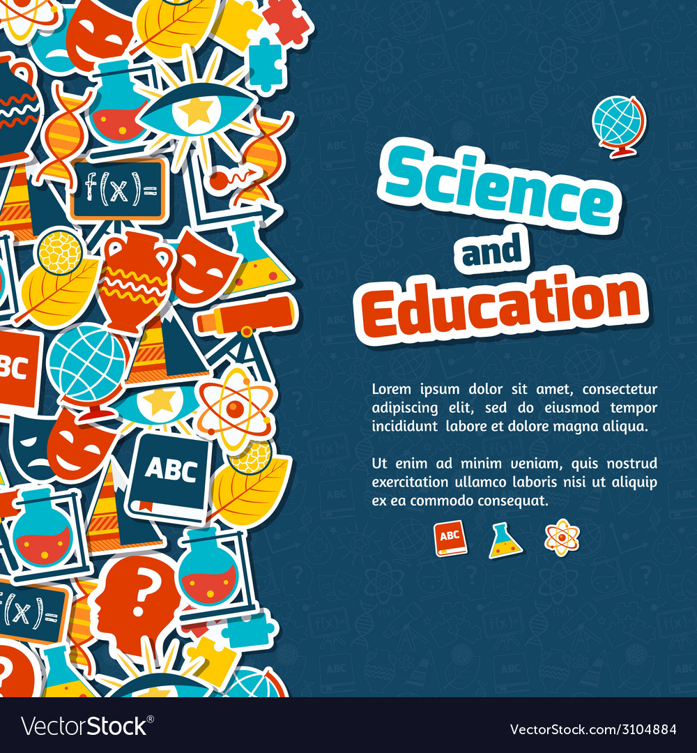 Education science background vector | Price: 1 Credit (USD $1)
