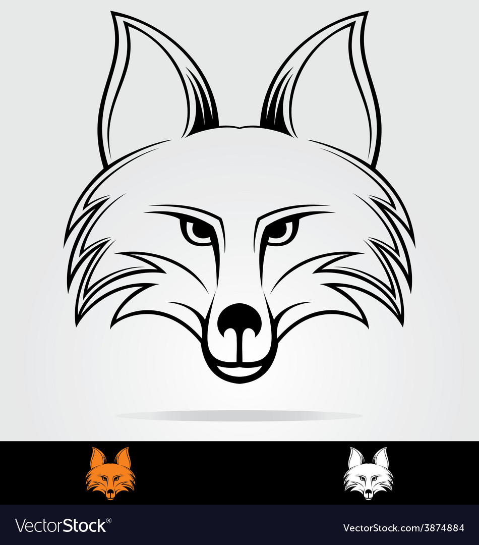 Fox head vector | Price: 1 Credit (USD $1)