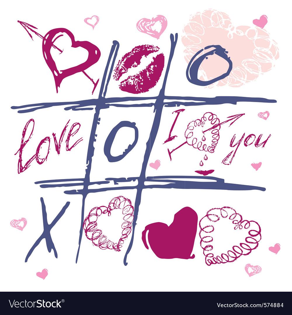 Love doodles vector | Price: 1 Credit (USD $1)