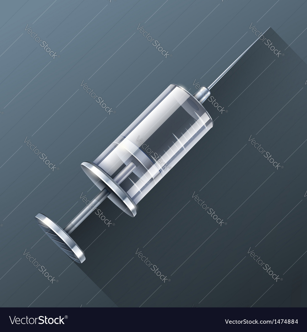 Medical syringe for injections vector | Price: 3 Credit (USD $3)