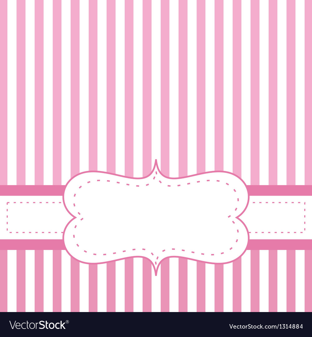 Pink card invitation for baby shower or wedding vector | Price: 1 Credit (USD $1)