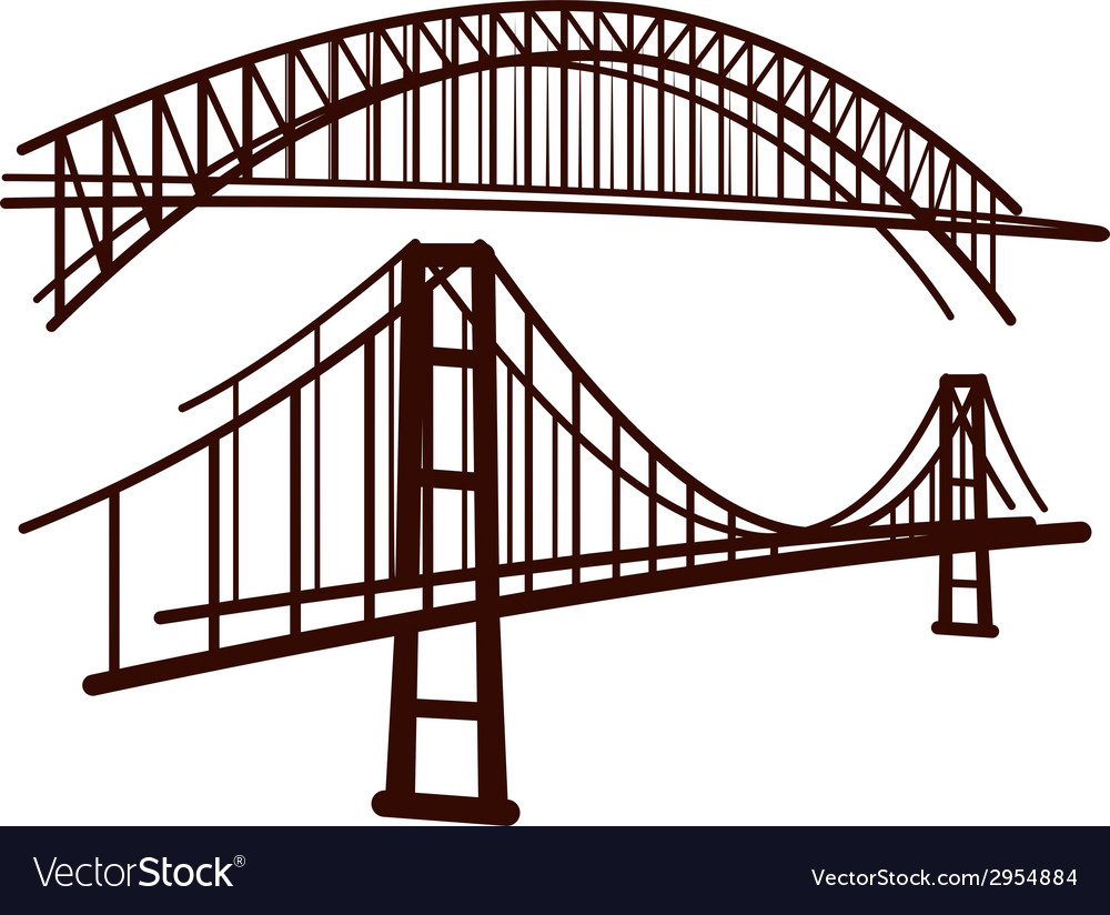 Set of bridges vector | Price: 1 Credit (USD $1)