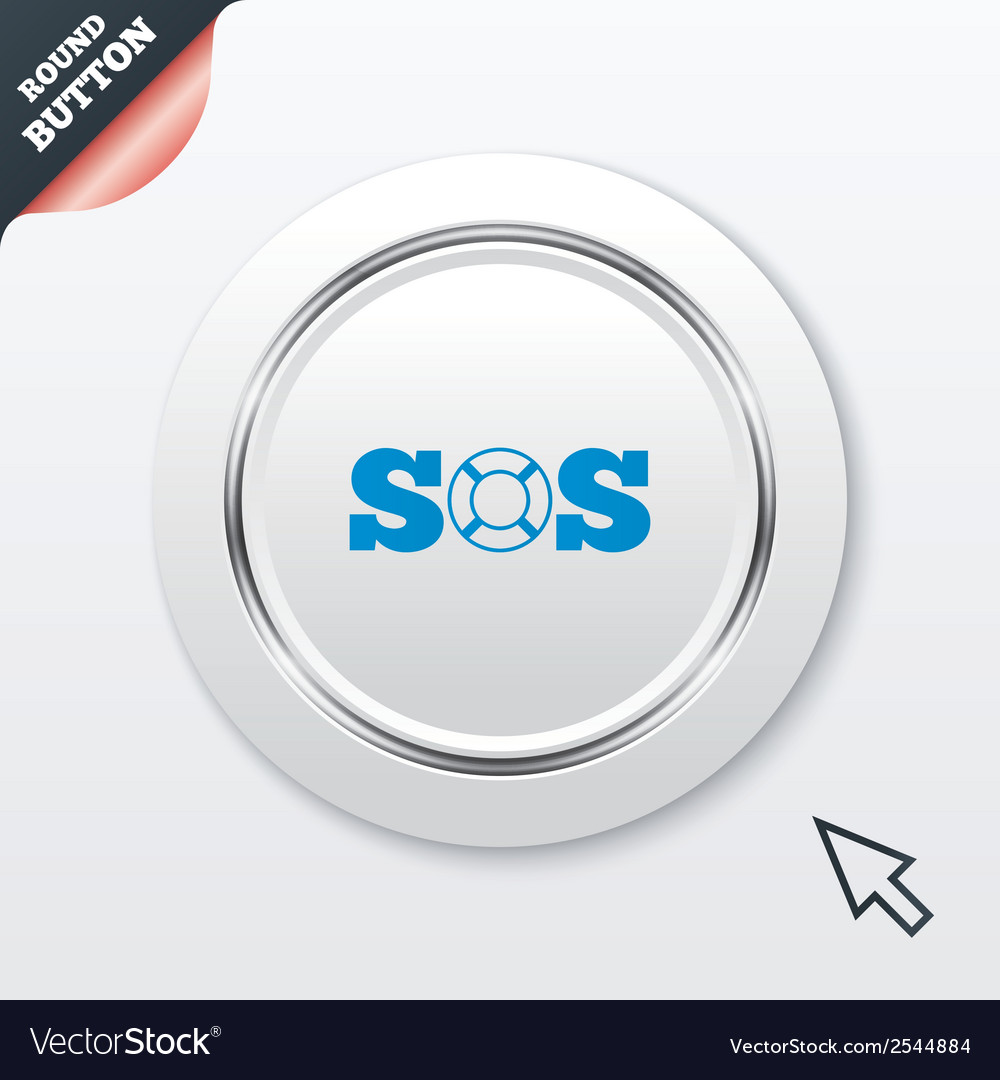 Sos sign icon lifebuoy symbol vector | Price: 1 Credit (USD $1)