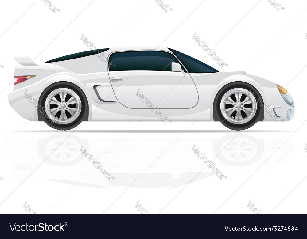 Sport car 02 vector | Price: 3 Credit (USD $3)