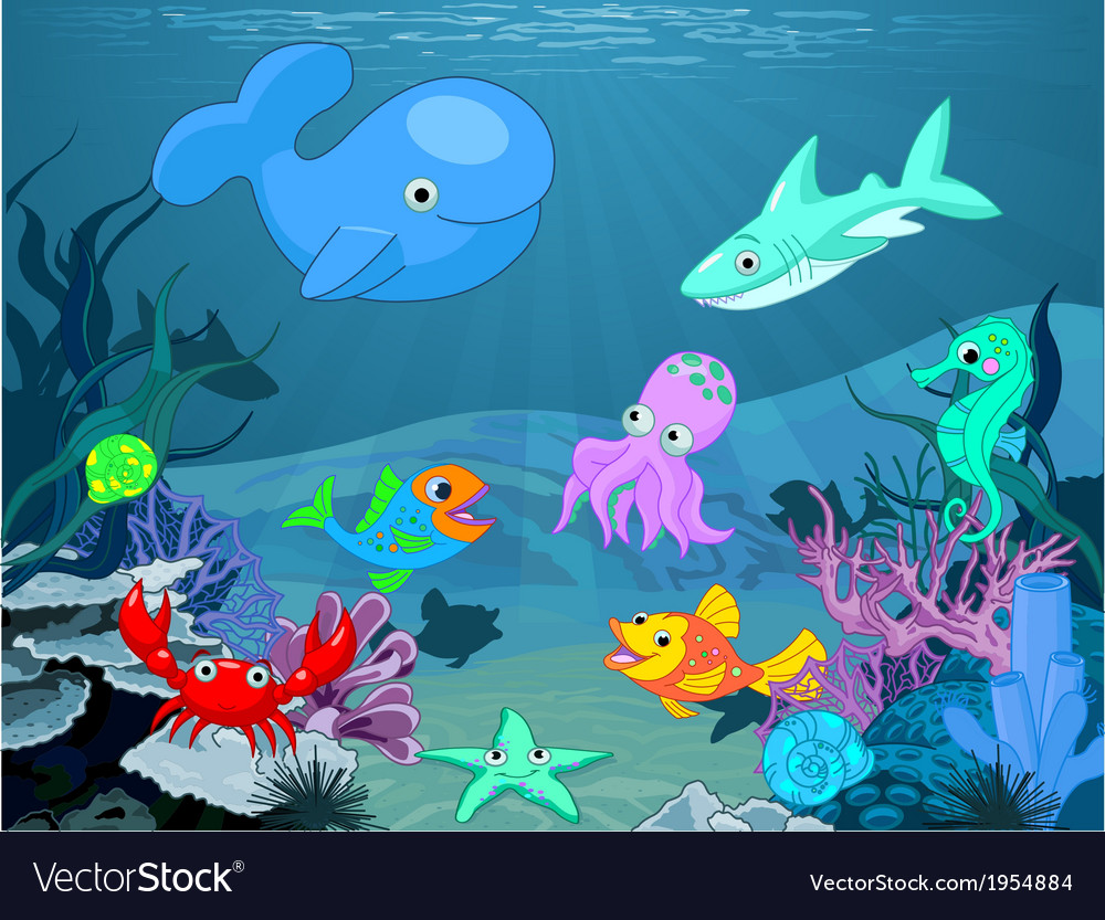 Underwater life vector | Price: 1 Credit (USD $1)