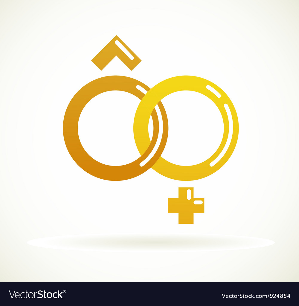 Wedding icon - golden rings vector | Price: 1 Credit (USD $1)