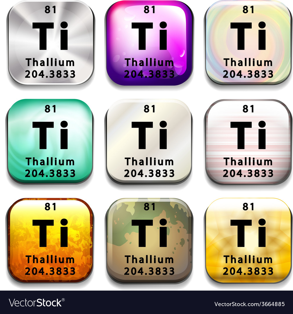 A periodic table showing thallium vector | Price: 1 Credit (USD $1)