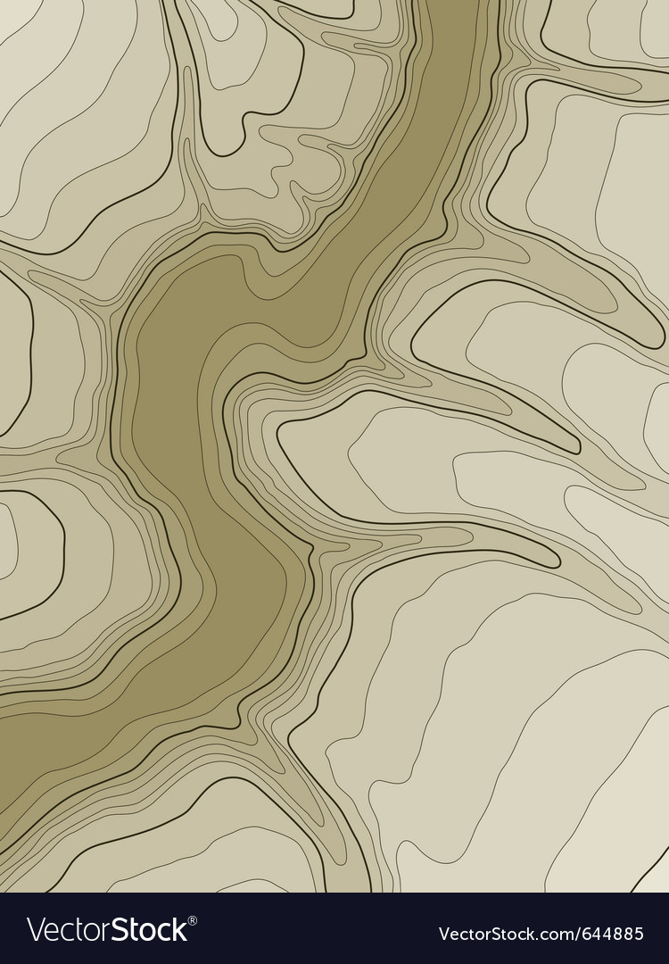 Abstract topographic map vector | Price: 1 Credit (USD $1)