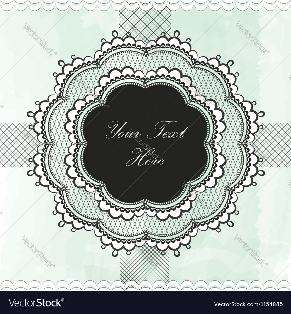 Black vintage lace border vector | Price: 1 Credit (USD $1)
