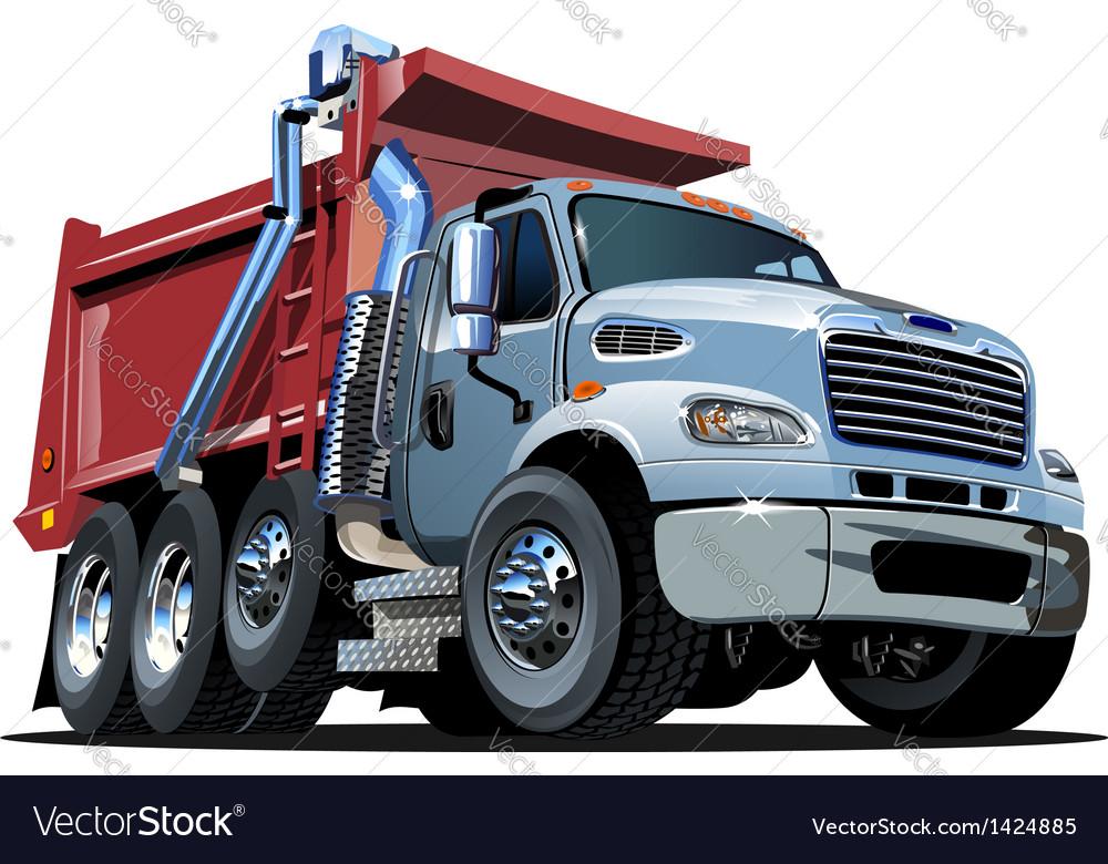 Cartoon dump truck vector | Price: 3 Credit (USD $3)