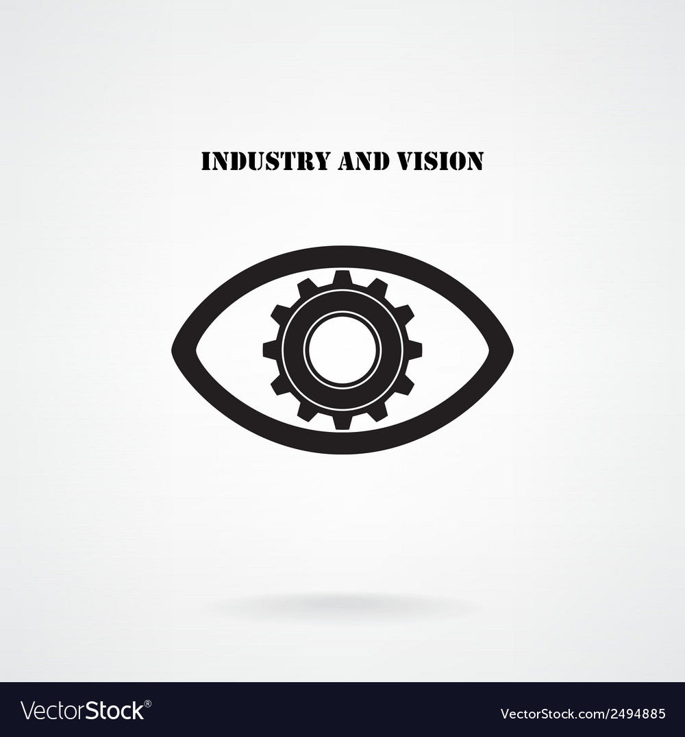 Creative gear with eye silhouette symbol vector | Price: 1 Credit (USD $1)