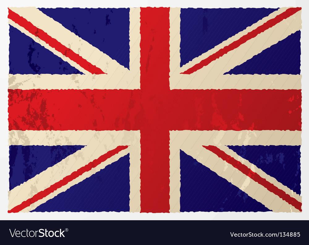 Grunge british flag vector | Price: 1 Credit (USD $1)