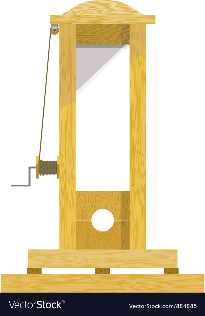 Guillotine eps10 vector | Price: 1 Credit (USD $1)