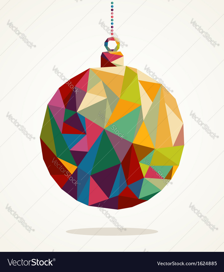 Merry christmas circle bauble with triangle vector | Price: 1 Credit (USD $1)