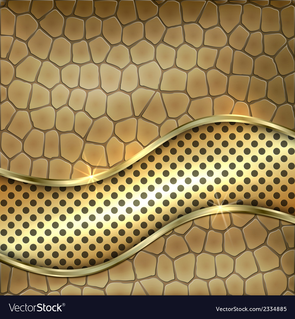 Metallic gold leather decorative background vector | Price: 1 Credit (USD $1)