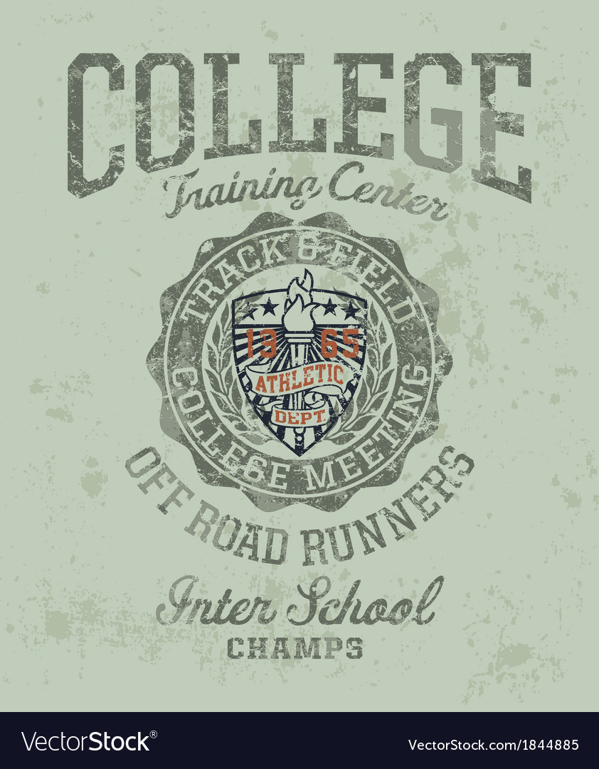 Track and field college meeting vector | Price: 1 Credit (USD $1)