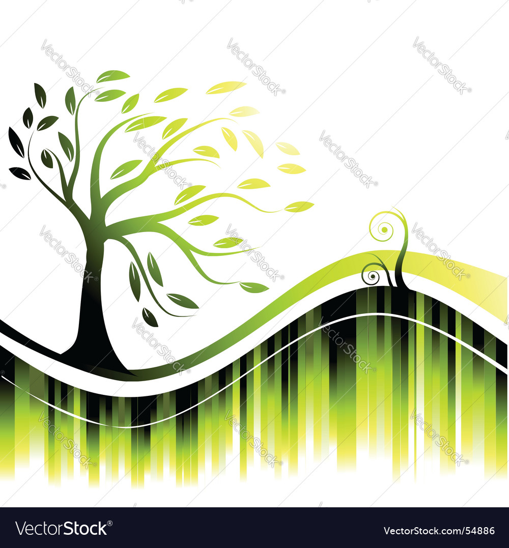 Abstract background bright tree silhouette vector | Price: 1 Credit (USD $1)