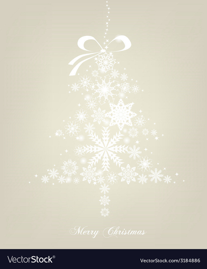 Christmas tree with stars background vector | Price: 1 Credit (USD $1)