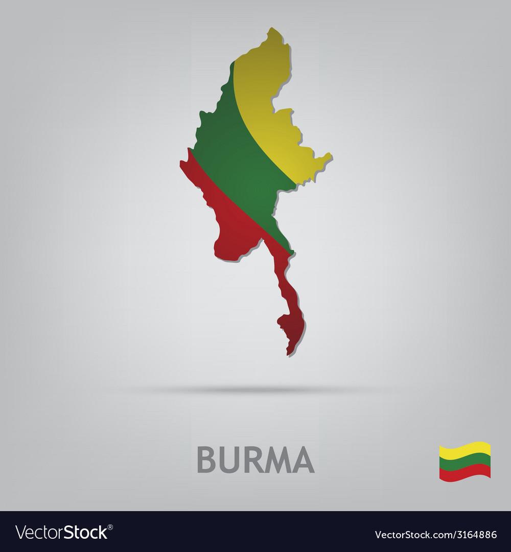 Country burma vector   Price: 1 Credit (USD $1)