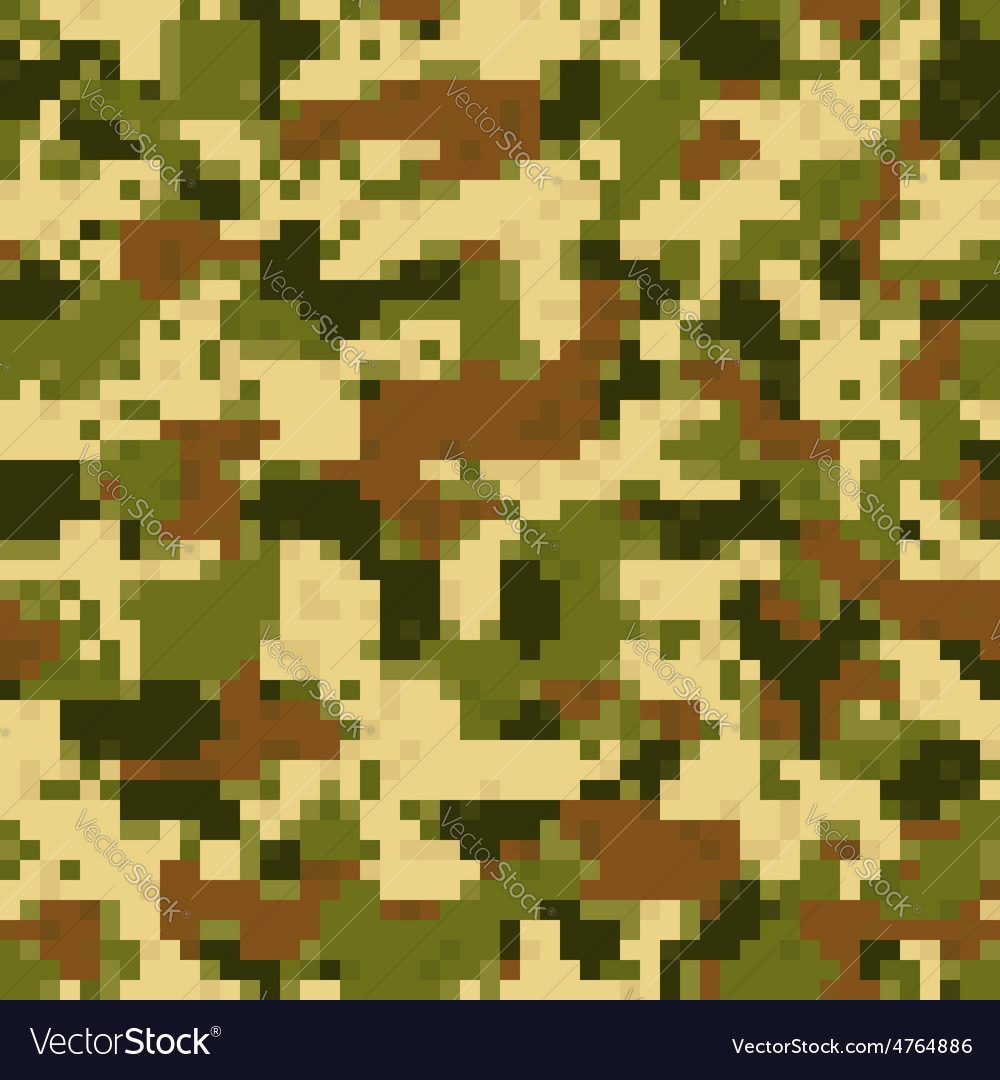 Digit camouflage seamless pattern vector | Price: 1 Credit (USD $1)
