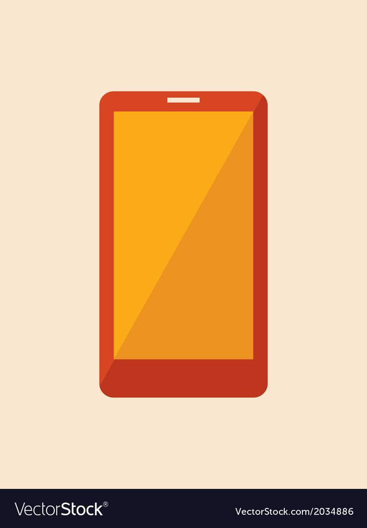 Flat smartphone vector | Price: 1 Credit (USD $1)