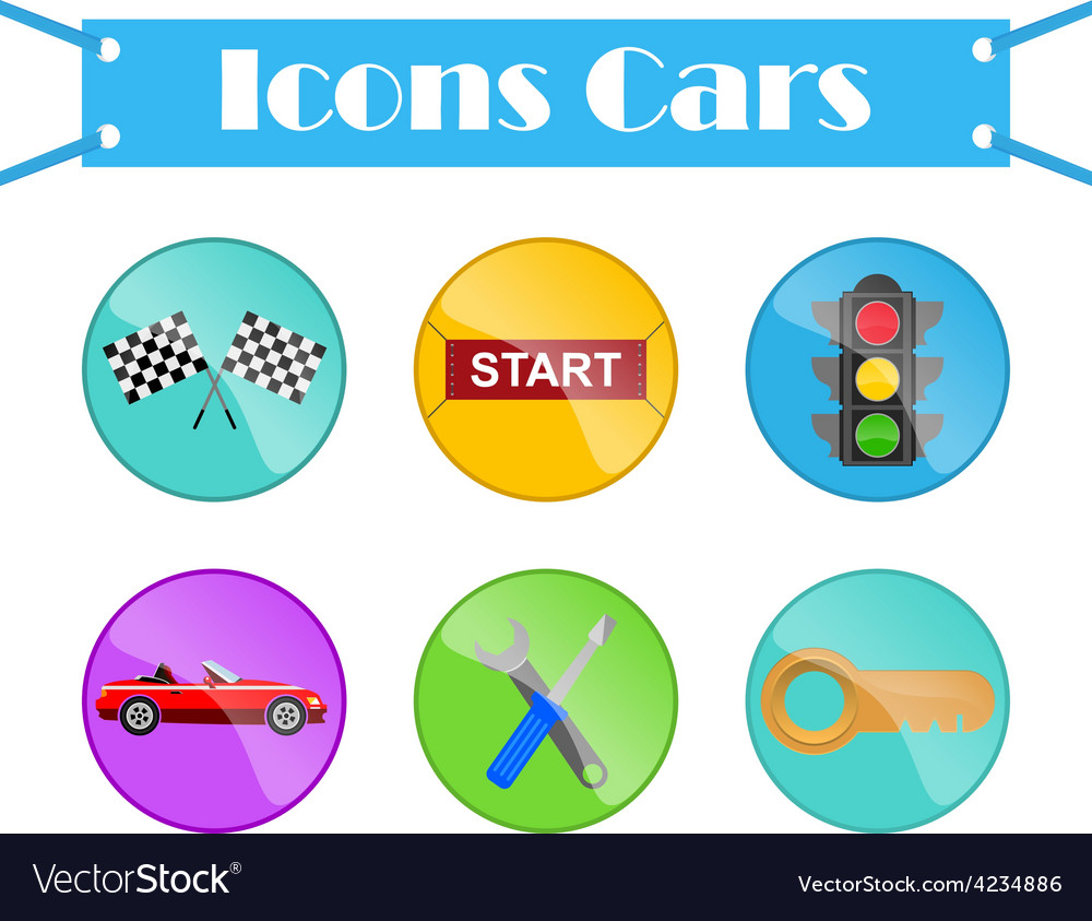 Icons cars vector | Price: 1 Credit (USD $1)