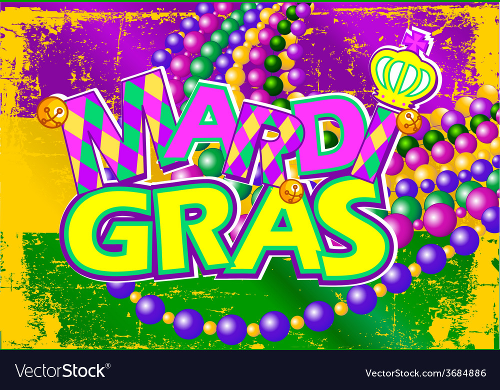 Mardi gras flag vector | Price: 1 Credit (USD $1)