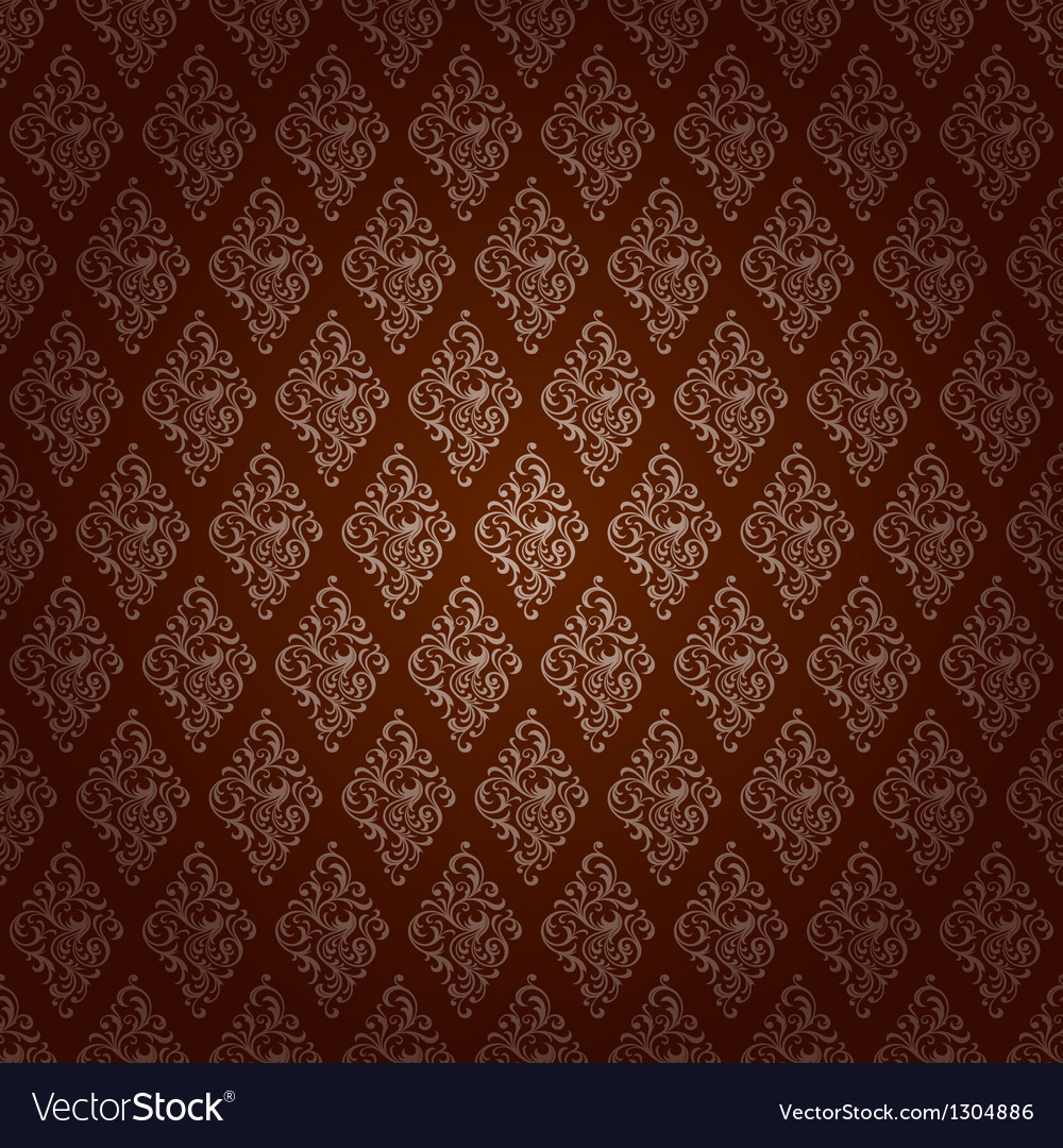 Red brown colors damask style pattern design vector   Price: 1 Credit (USD $1)