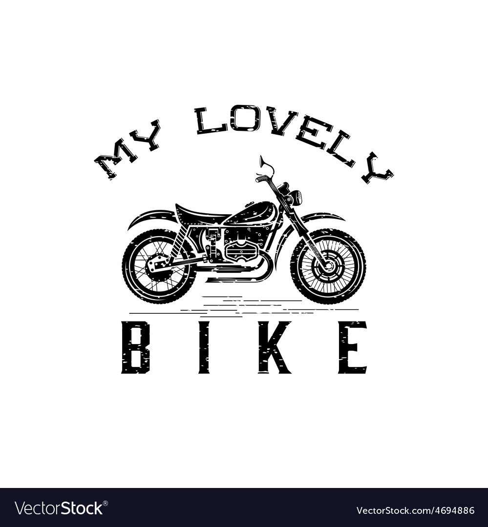 Vintage grunge motorcycle graphic design template vector | Price: 1 Credit (USD $1)