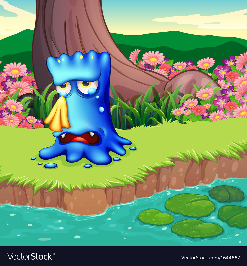 A monster crying at the riverbank vector   Price: 3 Credit (USD $3)