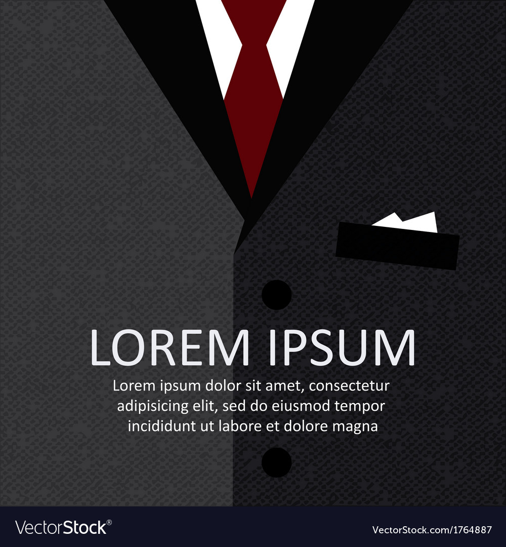 Business suit background vector | Price: 1 Credit (USD $1)