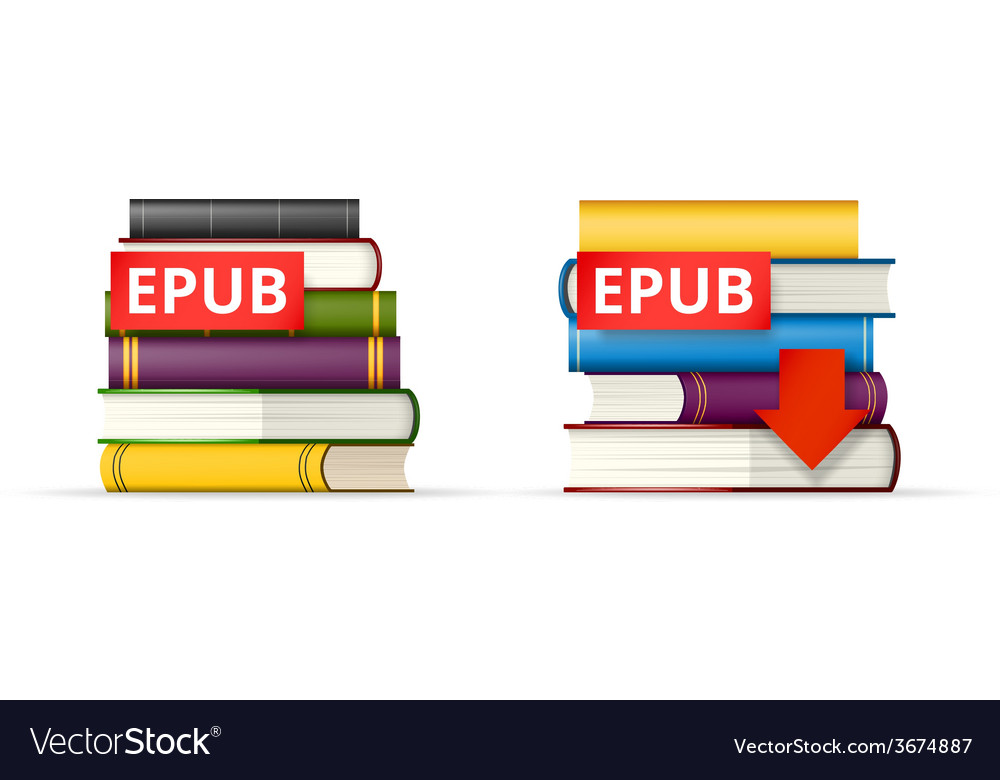 Epub books stacks icons vector | Price: 1 Credit (USD $1)