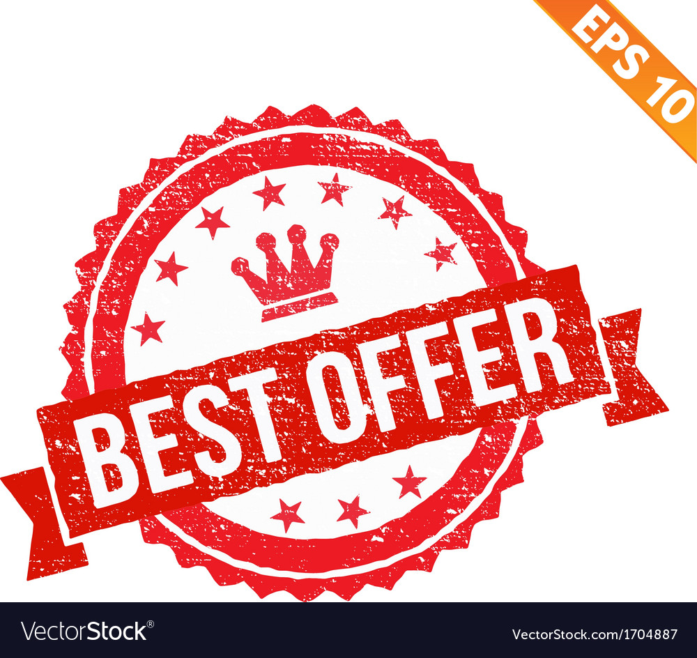 Grunge best offer rubber stamp - - eps10 vector | Price: 1 Credit (USD $1)