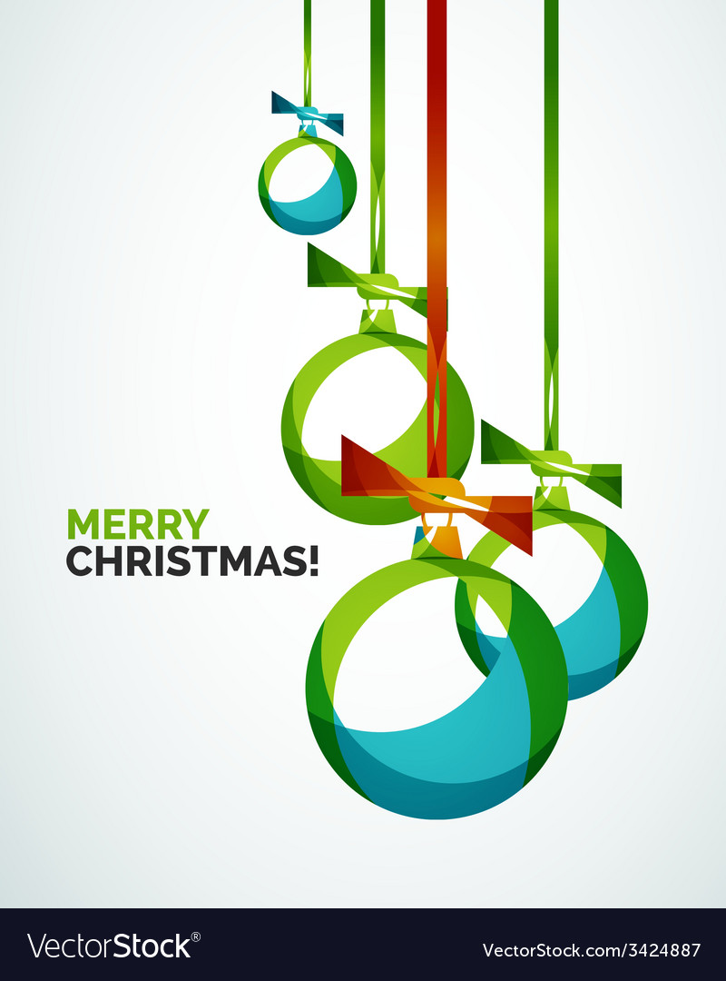 Merry christmas modern card - abstract baubles vector | Price: 1 Credit (USD $1)
