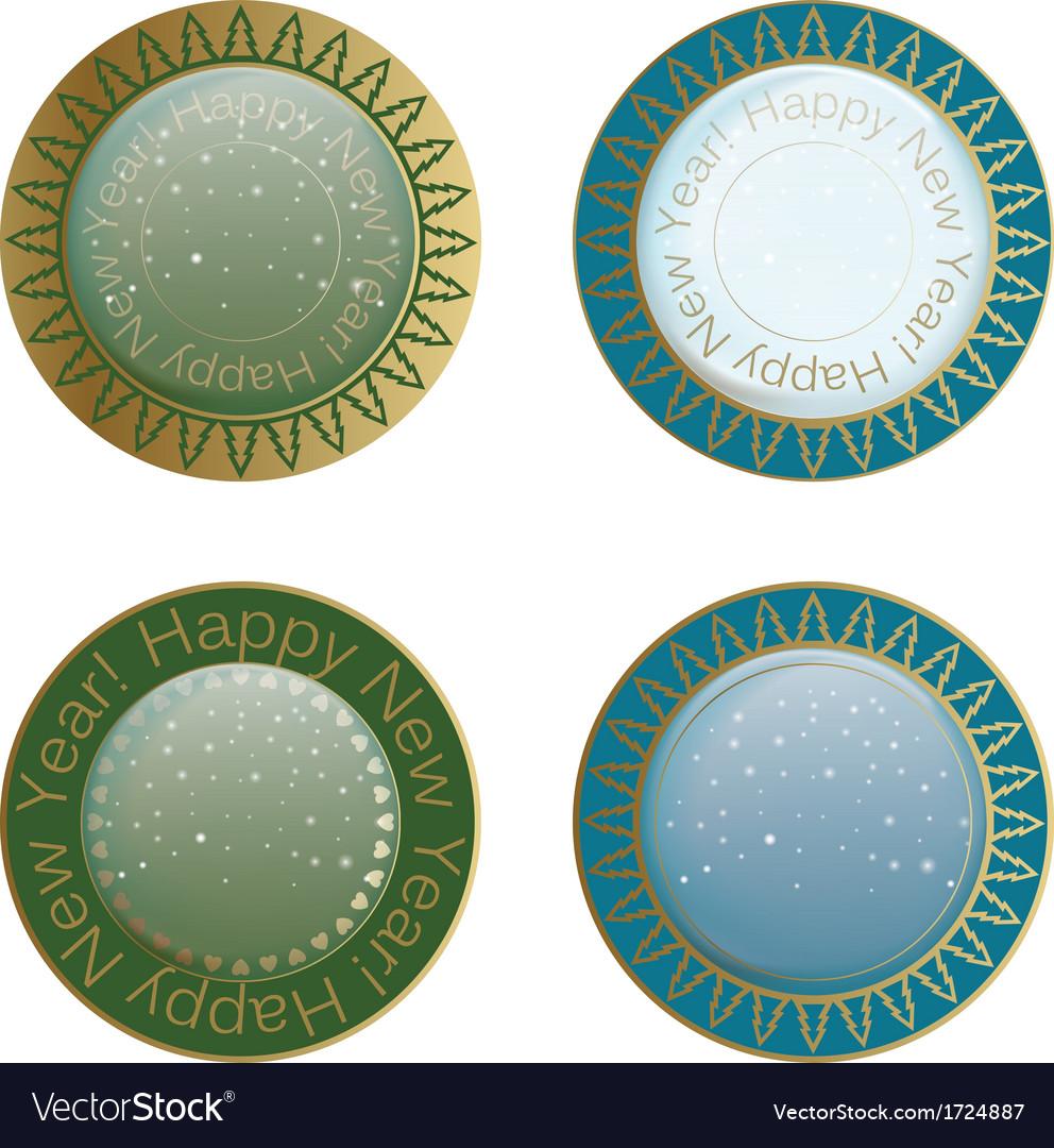 New year label design element vector | Price: 1 Credit (USD $1)