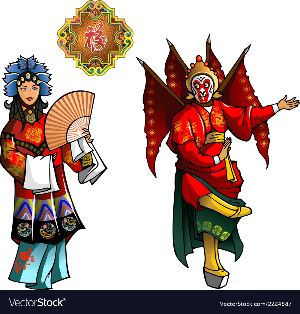 Personages of beijing opera vector | Price: 1 Credit (USD $1)