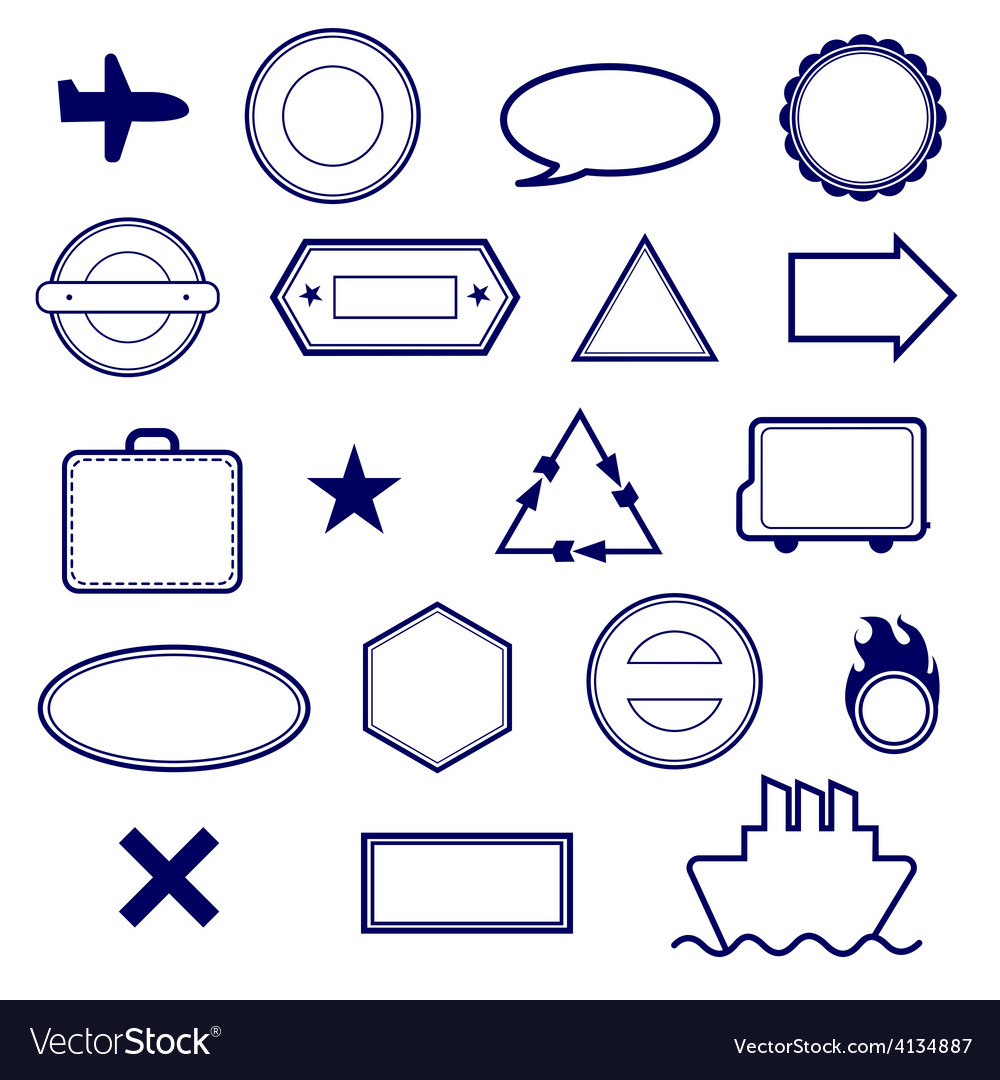 Stamps set vector | Price: 1 Credit (USD $1)