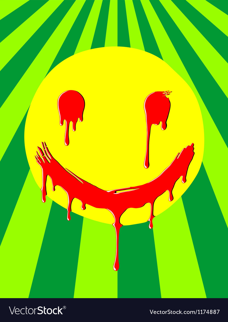 Weird melting smiley vector | Price: 1 Credit (USD $1)