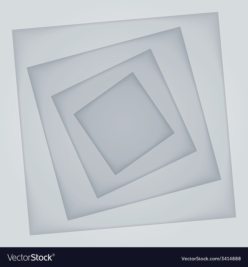 Abstract light grey rectangle paper shapes vector | Price: 1 Credit (USD $1)