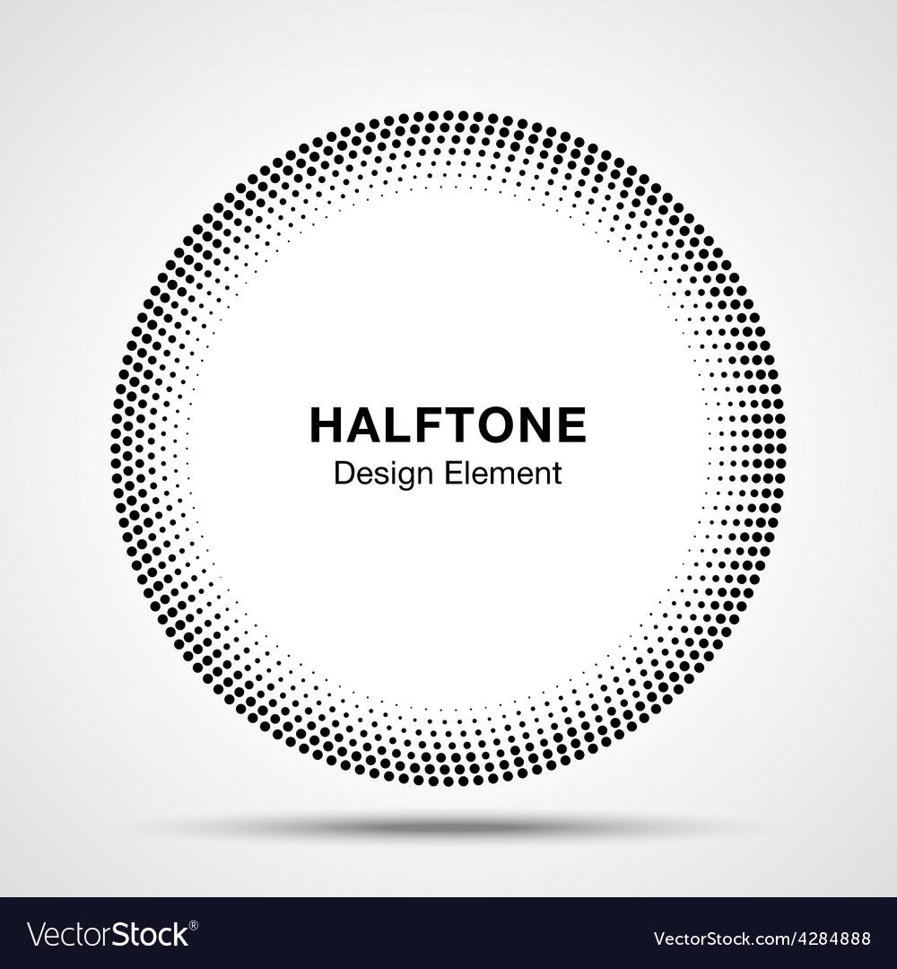 Black abstract halftone circle logo design element vector | Price: 1 Credit (USD $1)