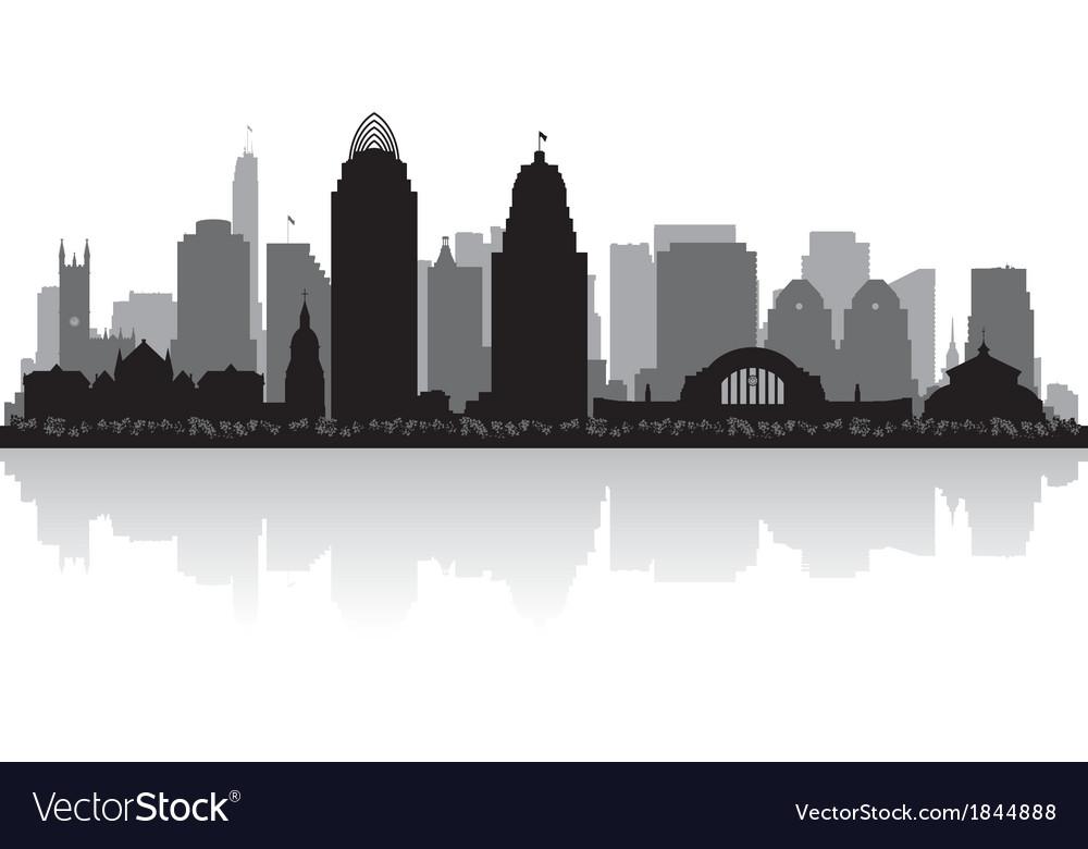 Cincinnati ohio city skyline silhouette vector | Price: 1 Credit (USD $1)
